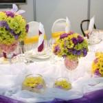 Разноцветный цветочный декор