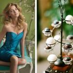 Почему бы не надеть на свадьбу экстравагантное лазурное платье?Ве