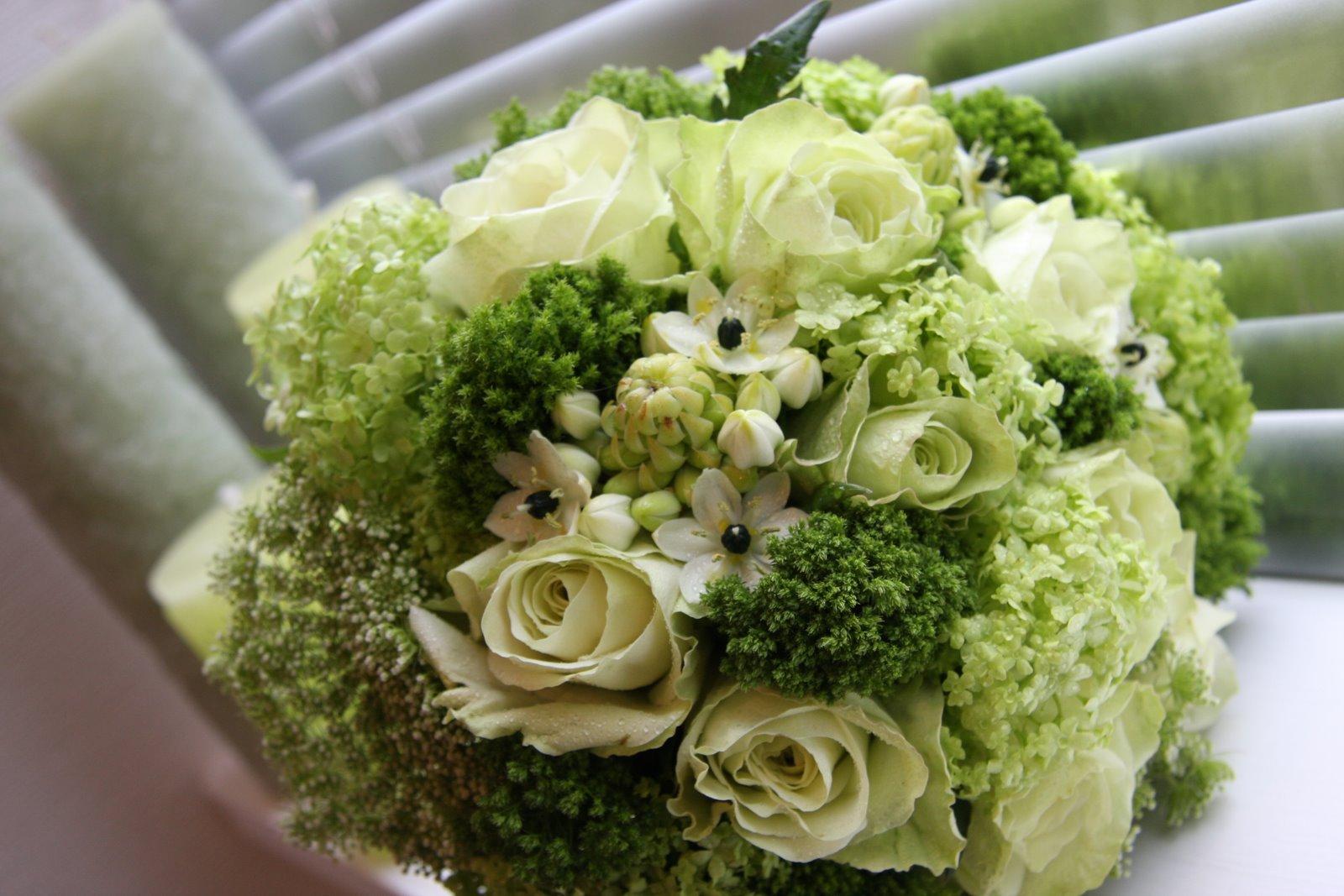 Lime Green Bridal Flowers : Nashasvadba