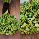 Зеленый свадебный букет с луговой травой