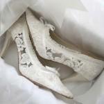 Свадебные туфли с кружевами