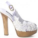 Свадебные туфли на платформе с удобным каблуком