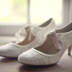 Туфли в стиле рэтро на низком каблуке