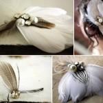 Роскошные заколки с перьями