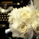 Свадебный букет в перьях
