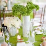 Нежные салатовые оттенки в оформлении свадьбы
