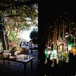Оформление свадьбы подвесными фонариками