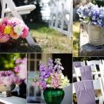 Летние цветы в оформлении свадьбы