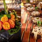 Украшение свадьбы оранжевыми цветами
