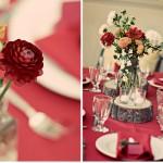 Украшение свадьбы цветами красных тонов