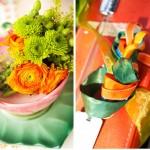 Украшение свадьбы зелеными цветами