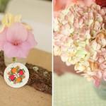 Розовые цветы в свадебном декоре
