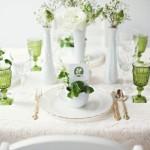 Оформление свадьбы в белых и салатовых тонах