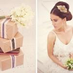 Элегантный цветок с драгоценностями в прическе невесты