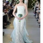 Голубое свадебное платье 2013