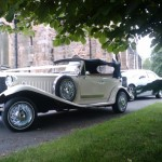 Классическое авто для винтажной свадьбы