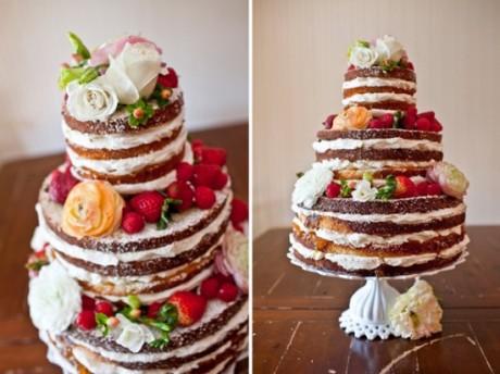 Свадебный торт в домашнем стиле