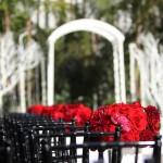 Свадьба на выезде в красном, черном и белом цвете