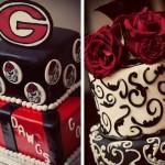 Свадебный торт в красном, черном и белом цвете