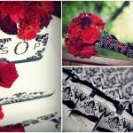 Свадьба в красном, черном и белом цвете