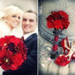 Аксессуары в красном, черном и белом цвете