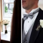 Бутоньерка жениха в стиле букета невесты