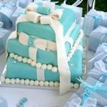 Сине-голубые свадебные торты