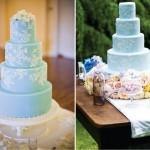 Небесно-голубой свадебный торт
