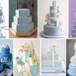 Разнообразие сине-голубых свадебных тортов