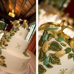 Свадебный торт с летним орнаментом