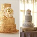 Золотые и серебрянные узоры на торте