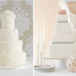 Ослепительный белый орнамент на свадебном торте