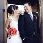 Тонкие ленты в свадебной прическе