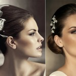 Драгоценные украшения в прическе невесты