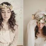 Невеста с прической в стиле винтаж