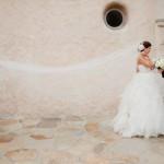 Длинная фата для стильной невесты