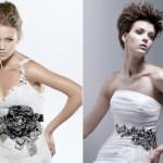 Массивный пояс для белоснежного платья