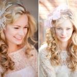 Обруч из перьев для украшения свадебного наряда