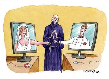 Регистрировать брак в Интернете