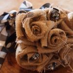 Букет невесты из мешковины