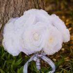 Белоснежный букет для традиционной свадьбы