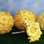 Желтый букет для невесты