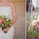 Букет из летних цветов в стиле винтаж
