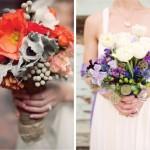 Винтажные букеты с яркими цветами