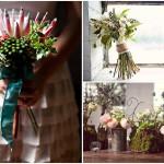 Свадебный букет из тропических растений