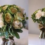 Букет из роз с использованием капусты