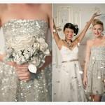 Букет невесты в серебряных тонах