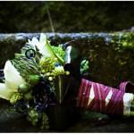 Экзотические растения в свадебном букете