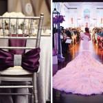 Свадебная церемония в пурпурном цвете