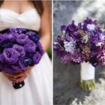 Букет невесты из пурпурных цветов